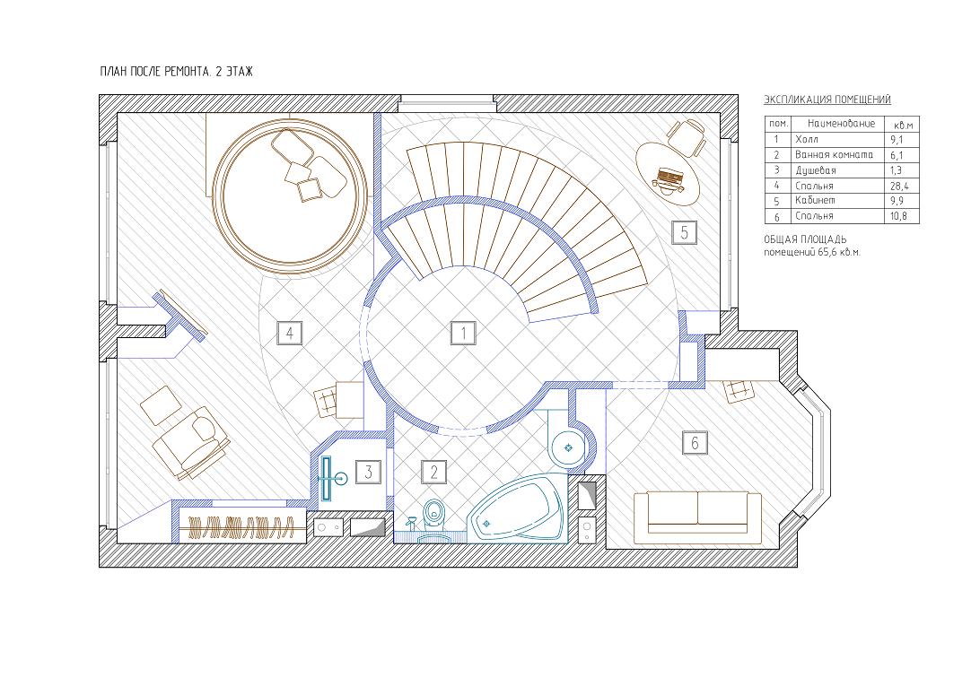 План 2 этажа ЖК Горки-8