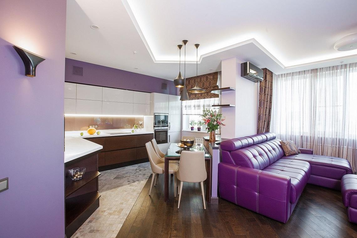 Кухня-гостиная Сложносочиненный интерьер