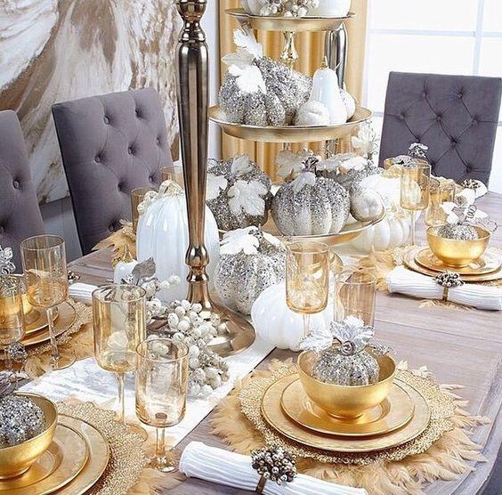 тарелки золото
